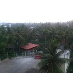 A view from the balcony of my third floor Malabar Palace