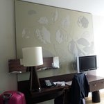 Tv and dresser with mirror