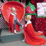 Our grandkids Anna and Alex pretending to be royals