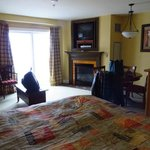 Room view - studio deluxe with fireplace and balcony