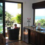 Corner of room - wet bar and views