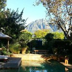 Beautiful View of Table Mountain and the Pool