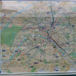 Map of RER to get around Paris and neighboring areas