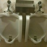 Their urinals are mighty close to each other