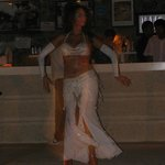 Bellydancer at the hotel beach bar