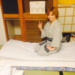Me in my room in kimi ryokan!