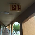 Exit sign not properly illuminated