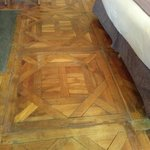 Squeaky old parquetry floor - lovely!