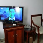 The tv has a wide selection of channel. You can even enjoy some movies at the HBO channel.