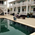 pool and guest rooms