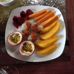 Breakfast fruit plate