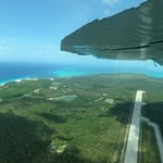"""Runway """"insight"""" as we approached Cozumel. AeroSaab"""