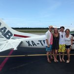 Family photo when we landed in Cozumel.