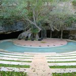 Amphitheater built into entrance to Cenote