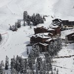 View on Belle Plagne, hotel and ski slope