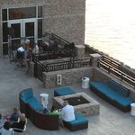 Live band on Waterside Wednesday - view from room 329