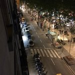 View from top flooor onto La Rambla