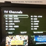 TV was old and blury.