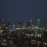 View from our room-Dallas lights at night