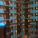 View of atrium from room
