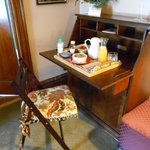 Gorgeous writing desk where breakfast was served!!