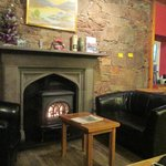 The fireplace in the Common room
