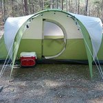 Large campsites for tents and campers