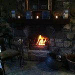 One of the Bar fireplaces