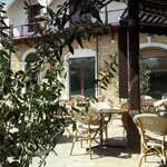 Part of the lovely village square in Polis where you can enjoy a leisurely lunch in the sun