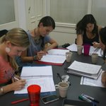 Our studens focusing in their intensive course