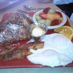 Toasted Mango French Toast Special with fruit