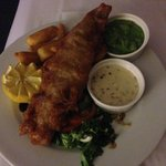 Lovely Fish and Chips from room service