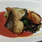 """King fish, Shrimps and local basil """"Wellington"""" with truffle duxelles"""