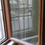 Lot of dust on window frame