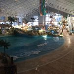 The water park at the hotel