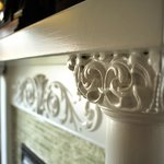 Fireplace mantle woodwork