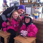 Our wonderful ski school instructor Sabina, organised by Villa Nozawa. So much fun!