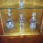The decanters in room