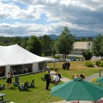 The back lawn of the Tavern makes for the perfect function, reunion or wedding celebration.