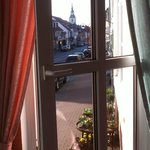 View on Elze Mainstreet from Hotel Cappucino's dining room