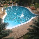 Lovely Africa shaped pool. Nice and clean