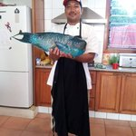 Paulo and the blue parrotfish