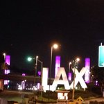 Hotel driveway is right at main entrance to LAX -- a quick 5 min shuttle to the terminals.  It's