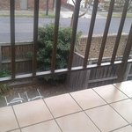 balcony rail - very large gap not suitable for young children