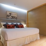 40sqm one bedroom apartment with Japanese style sliding doors closed