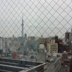 View from our window. Look at the Tokyo Skytree!