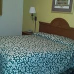 Old stained bedspread