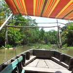 Mekong Tour - finally got our sunshade up