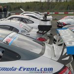 Parc ferme after the 6 hour endurance race, a short walk from hotel