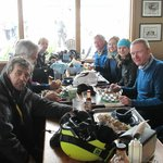 Our group of skiers at lunchtime